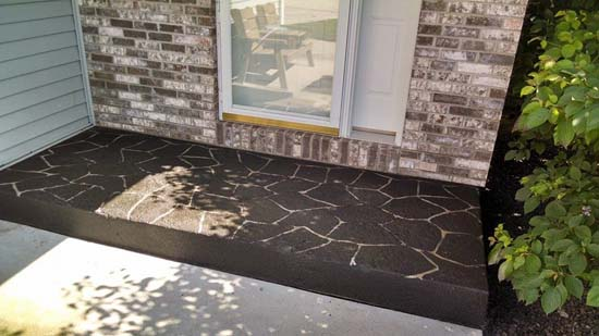 (After) Dark charcoal flag stone over lay