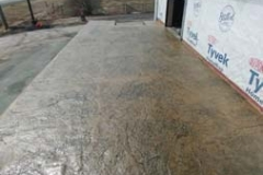 raised patio(texture wheat concrete with charcoal release)
