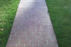 stenciled walk way (Chicago brick)