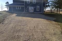 final gravel driveway grade